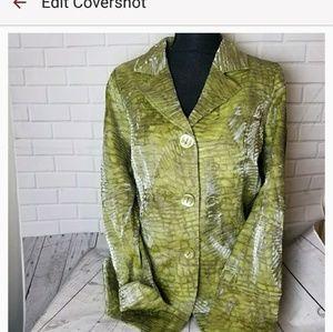 Bling Green Career Blazer Size 8